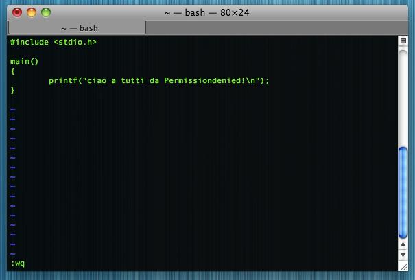 Usare Vim su Ubuntu Linux e Mac